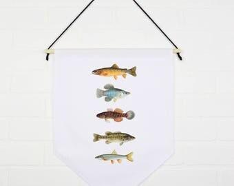Les poissons barbottent - Fanion