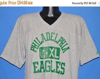 ON SALE 80s Philadelphia Eagles Jersey t-shirt Extra Large