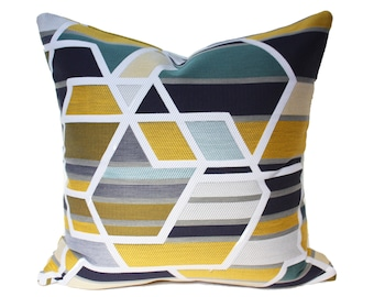Maharam Agency Citrus pillow cover, yellow pillow cover, modern pillow covers, geometric pillow covers, designer pillow cover