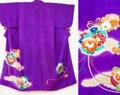 Purple irotomesode kimono...