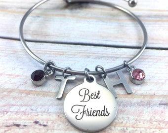 Best friend bracelet, Mom and Daughter bangle, gift for mom, daughter gift, swarovski bracelet