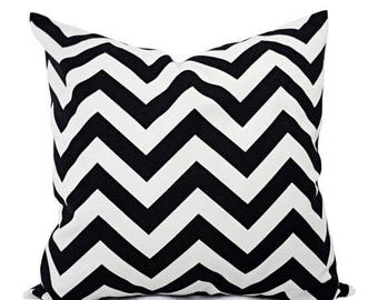 15% OFF SALE 2 Black Chevron Decorative Pillow Covers Black and White - Throw Pillow Cushion Cover - Black Chevron Pillow Cover