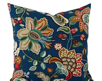 15% OFF SALE Two Floral Pillow Covers   Teal Pillows   Patio Pillow Covers