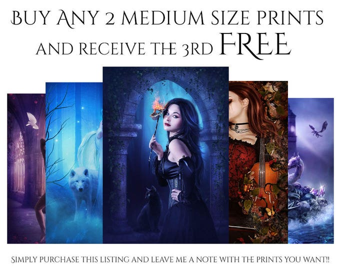 Featured listing image: Buy 2 Get 1 Free ENCHANTED WHISPERS ART prints