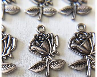 6pc Rose Charm/ Rosary Making