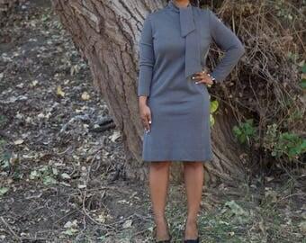 Comfy Midi Charcoal Dress