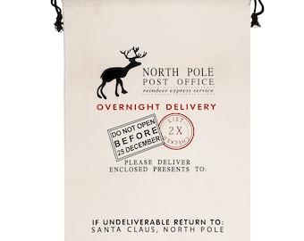 santa sack Merry Christmas santa sack / personalised Christmas sack
