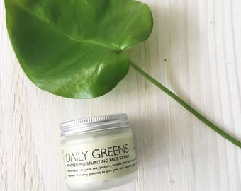 DAILY GREENS Whipped Moisturizing Cream, Natural Skin Care, Face Moisturizer, Anti Aging Cream, Green Tea For Skin, Normal to Dry Skin, 2oz