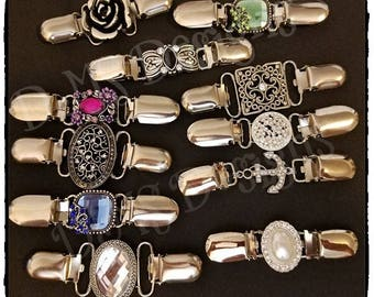 Silver Beauties!!! Decorative Embellished Dress Cinch Clips; Dress Up your favorite Dress or oversized tops with beautiful jewelry clips