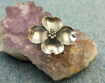 Stuart Nye Dogwood Flower Brooch Sterling Silver 1950s Vintage