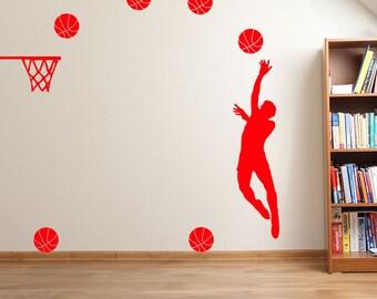Basketball Player Hoop A35