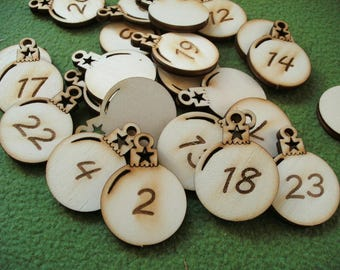 Advent figures, wood, 24 pieces (24-0020A)