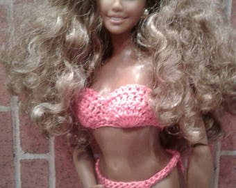 Curvy Barbie Strapless Bra and Panties