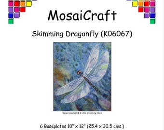 MosaiCraft Pixel Craft Mosaic Art Kit 'Skimming Dragonfly' (Like Mini Mosaic and Paint by Numbers)