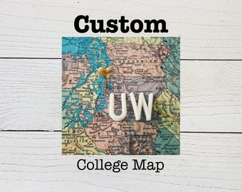 Custom College Heart Map - University Heart Map Print - College Going Away Gift - College Graduation Gift - Custom Heart Map - Dorm D