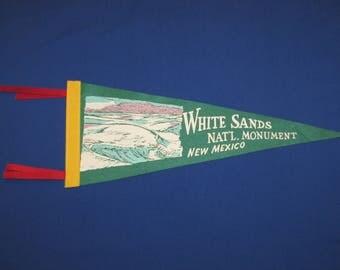 WHITE SANDS National Monument New Mexico Vintage Felt Souvenir Pennant