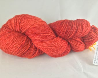 Sheepish Handspun Hot Pepper Sport weight Cormo yarn