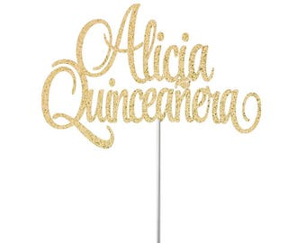Personalized Mis Quince Cake Topper, 15 Birthday Topper, Quinceanera topper, mis quince party decorations, Espanol decor, party cake topper