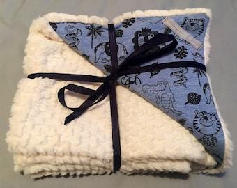 Zoo animal baby blanket