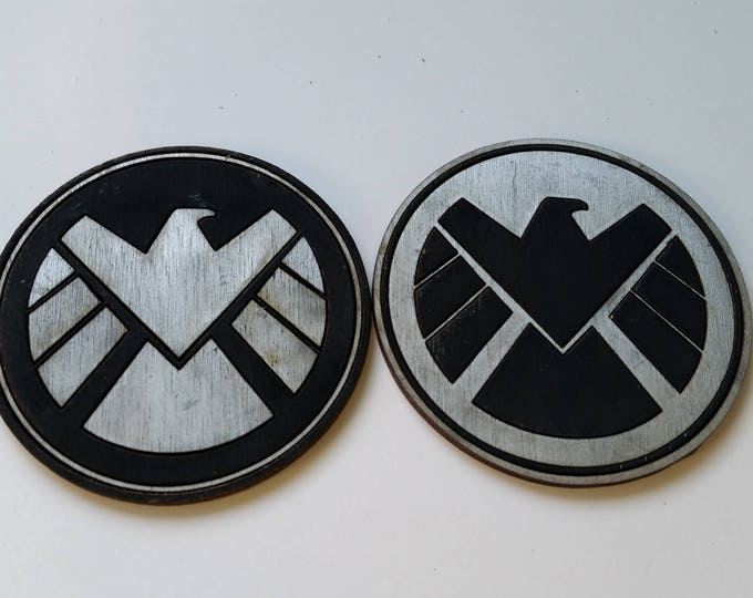 Marvel Agent of Shield Inspired Coaster Set of 4