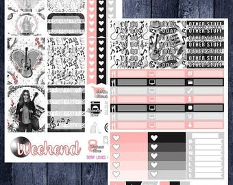 Weekend Sale Music Lover Kit for Erin Condren Life Planner Vertical Layout