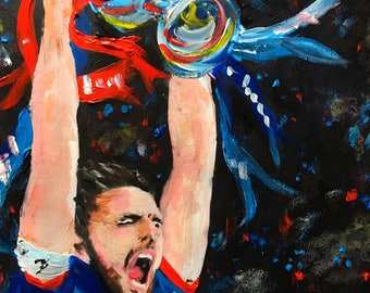 Inverness Caledonian Thistle Scottish Cup painting.