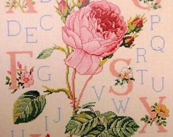 dreaded pink alphabet - ABC pink redoute dmc xc0253-a