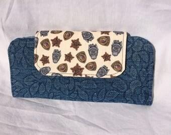Slimline Wallet - Blue with BCSO flap