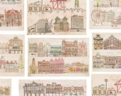 This is Fremantle Collection - Five Original Dry Point Prints