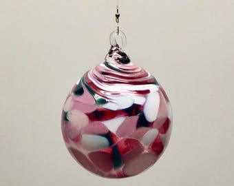 Hand Blown Glass Christmas Ornament (color name: All the Merry)
