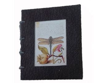 Miniature book, Artist book, handmade book, coptic stitched mini book, Spring gift, pocket gift, 'ListenWorld'