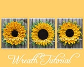 Flower Trio Tutorial, Wreath Tutorials, Julie's Wreath Boutique Tutorials, Sunflower Tutorial, DIY, Video Tutorial, Make Your Own Wreath