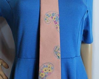 Henry Grethel silk pink tie