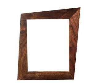 ON SALE Walnut Trapezoid Picture Frames With Glass & Backing