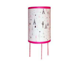 "Lamp ""in my pink teepee"""