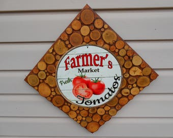 Reduced...Farmers Market Tomatoes for Sale Sign...