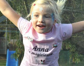 T-shirt personalized with name - girl - magic