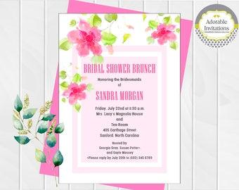 Bridal Shower Invitation, Bridal Brunch Invitation, Bridal Tea Invitation, Birthday Invitation, Bridesmaids Luncheon Invitation, Printable