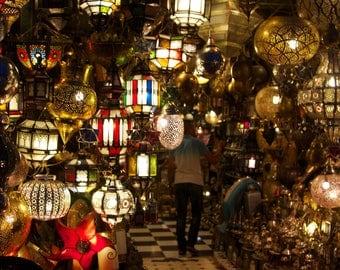 "Travel Photography ""Morocco Lanterns"" Print"