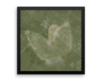 Framed Angel photo paper poster