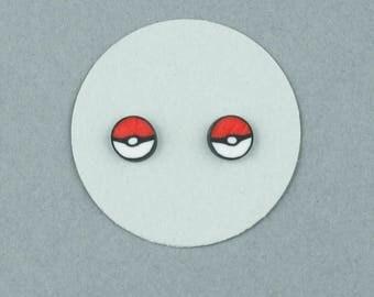 Gotta Catch them All, Pokemon, Pokéball, Stud, Earrings