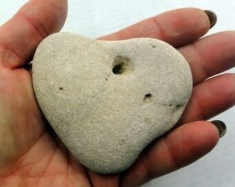 Heart Stone Heart Shaped Beach Stone Sea Rock pebble Natural Gift Israel Wedding marriage romantic gift