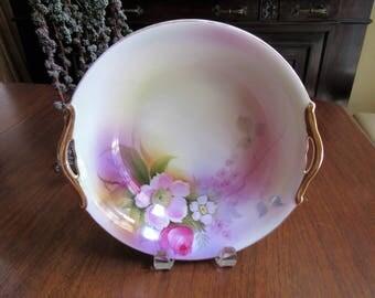 "Hand Painted 9"" Bowl, Noritake Morimura 1920-1940"
