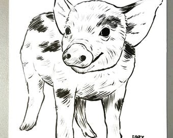 Little Pig original art