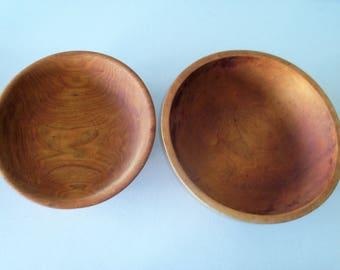 Vintage Wood Bowls By Joos & Munising