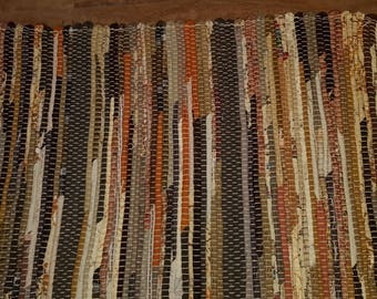 Brown Rag Rug with multi-brown colors