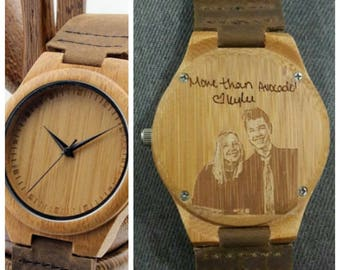 personalized engraved mens wooden watch, wood watch, groomsmen gifts, christmas gift, fathers day gift, wooden watch, mens gift, watch