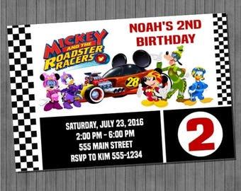 FLASH SALE Mickey Roadster Racers Invitation