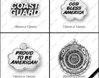 B-01-05 Word Charms, Military, Coast Guard, America