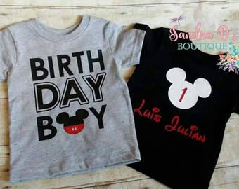 Mouse birthday shirt